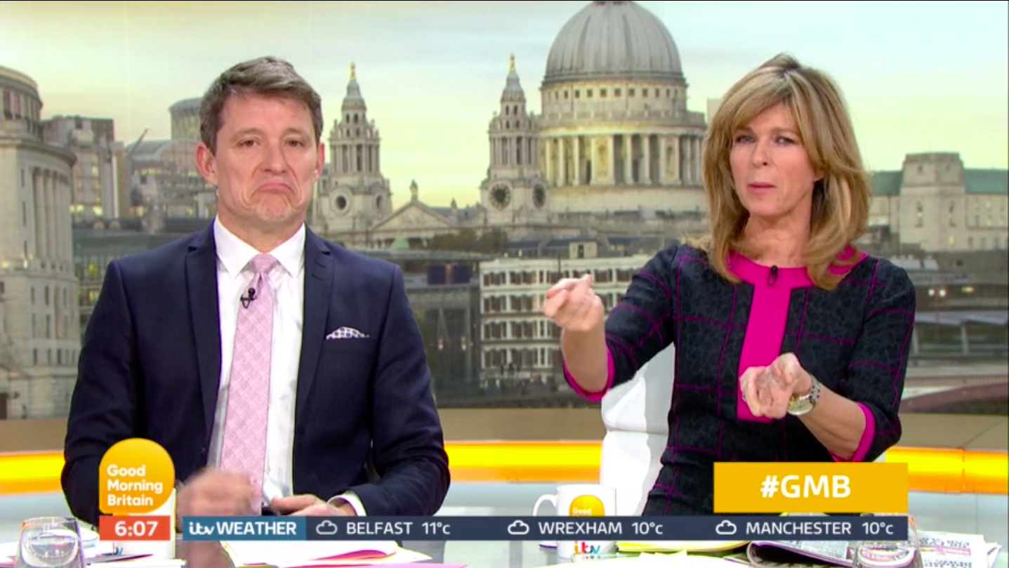 Ben Shephard clashes with GMB co-star Kate Garraway 'over a pen'