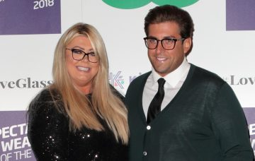 Gemma Collins and James Argent at the Specsavers Spectacle Wearer Of The Year 2018