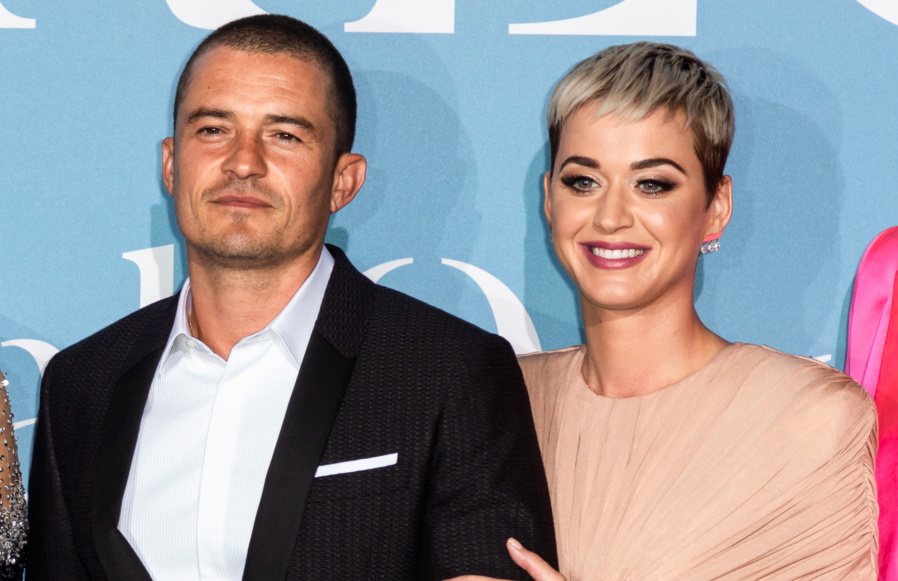 Orlando Bloom and Katy Perry at the Gala For The Global Ocean Arrivals In Monte Carlo