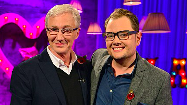 Alan Carr panics about leaking Paul O'Grady secret