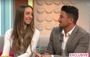 Peter Andre and wife Emily on Lorraine