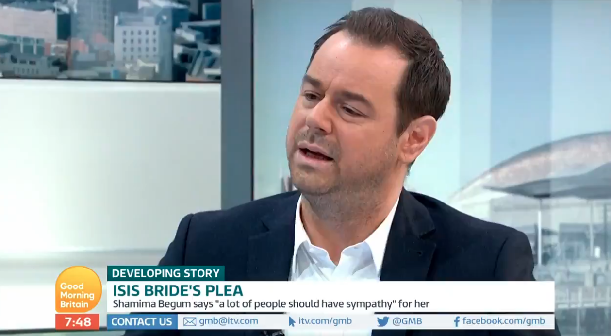 Danny Dyer believes fleeing 19-year-old ISIS bride should be able to return to Britain