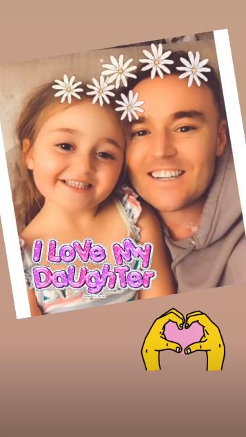 Alan Halsall and daughter