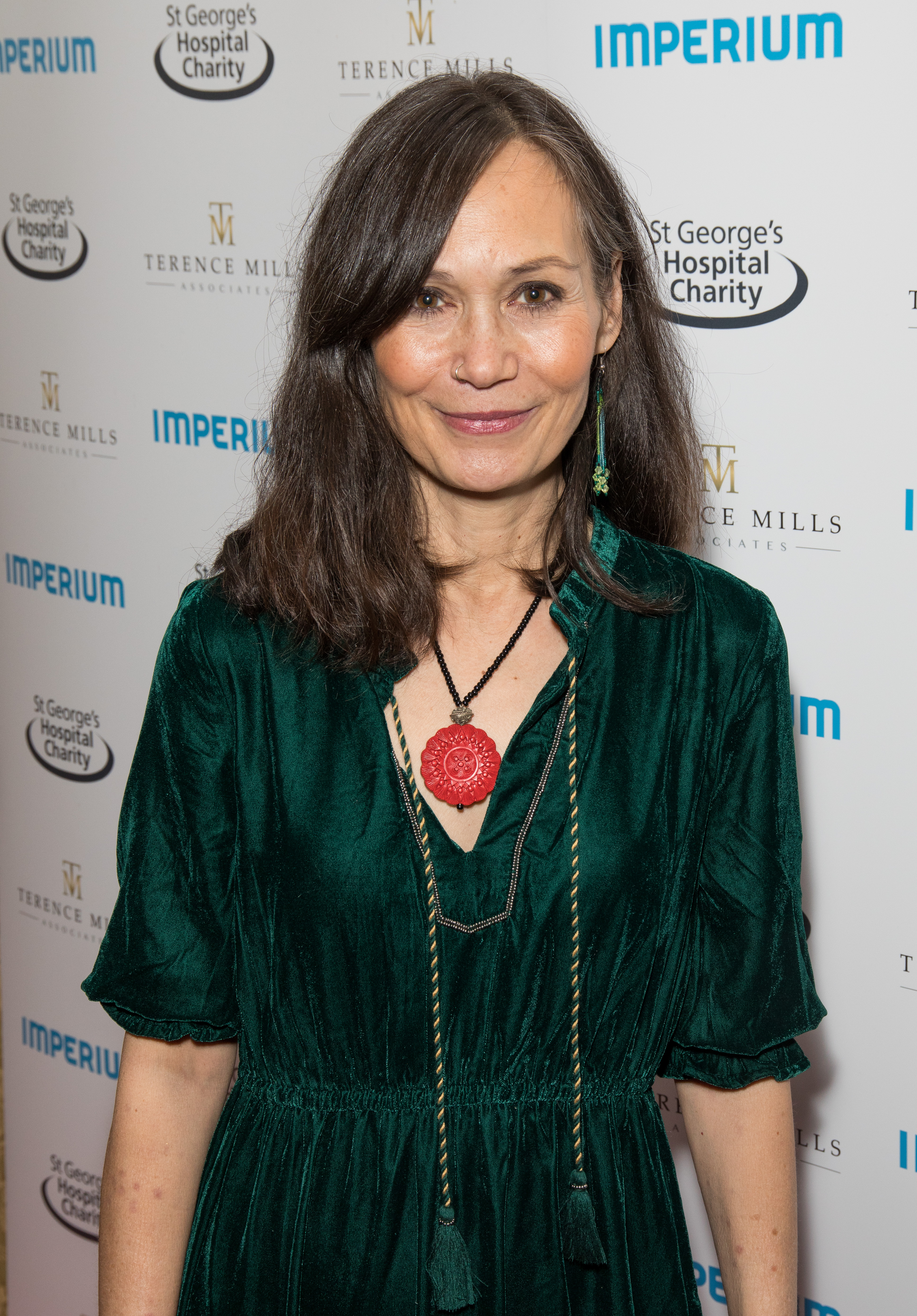 Leah Bracknell at St George's Hospital Charity event