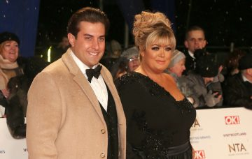 Gemma Collins and Arg at The National Television Awards 2019