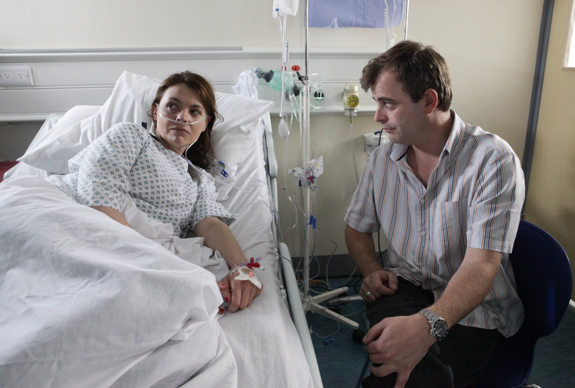Mandatory Credit: Photo by ITV/REX/Shutterstock (3529637oq) Coronation Street - Ep 7932 Monday 13 August 2012 - 8.30pm Tracy Barlow [KATE FORD] is furious when Deirdre tells her that Steve McDonald [SIMON GREGSON] is seeing Michelle â€' she tells steve to get out. Coronation Street 2012