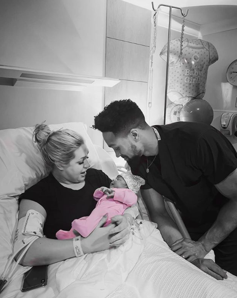 Ashley Banjo and wife with their baby daughter
