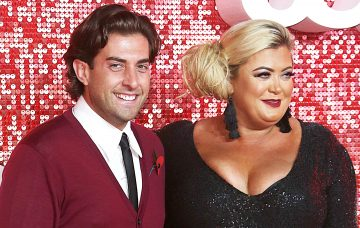 James Argent and Gemma Collins at The ITV Gala 2017