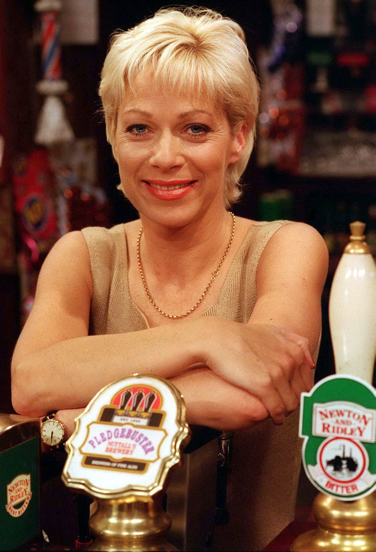 Editorial use only. Exclusive - Premium Rates Apply. Call your Account Manager for pricing. Mandatory Credit: Photo by ITV/REX/Shutterstock (689861hw) 'Coronation Street' TV - 1997 - Natalie Barnes [Denise Welch] ITV ARCHIVE