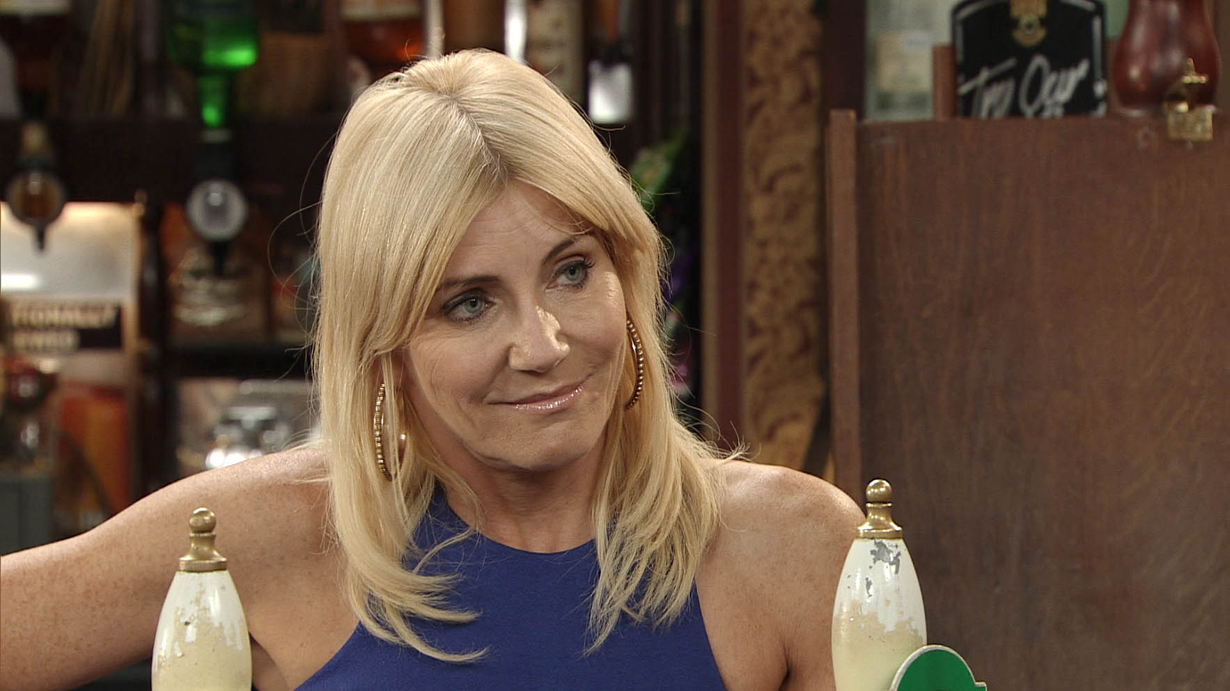 Mandatory Credit: Photo by ITV/REX/Shutterstock (3529655az) Coronation Street - Ep 7992 Friday 9 November 2012 at 7.30pm The charity 5 a side becomes a grudge match when Carole [DEBBIE ARNOLD] comes in to gloat to Stella Price [MICHELLE COLLINS]. Coronation Street 2012