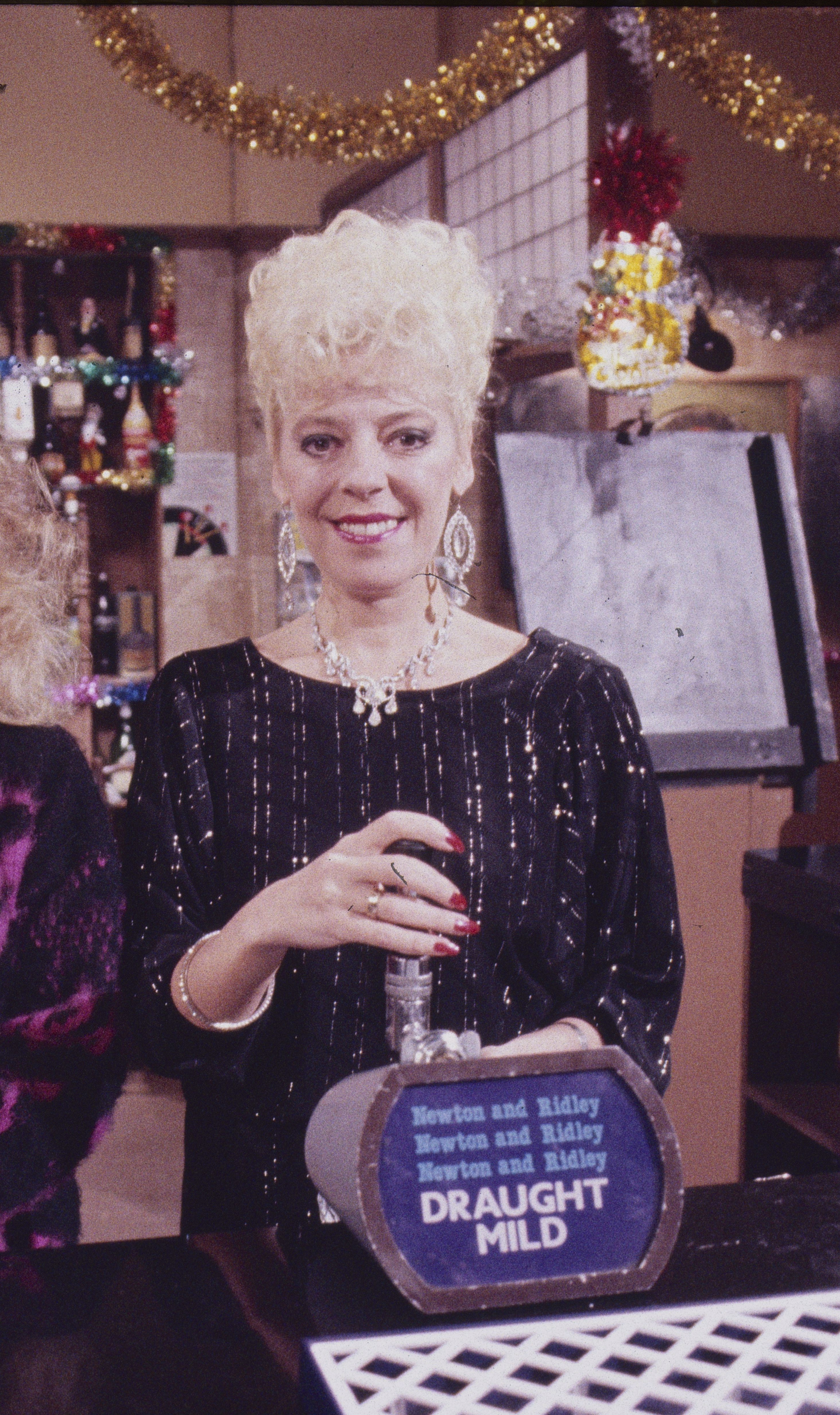 Editorial use only Mandatory Credit: Photo by ITV/REX/Shutterstock (7870109d) Sue Jenkins (as Gloria Todd) and Julie Goodyear (as Bet Lynch) 'Coronation Street' TV series - 1985 Coronation Street is a long running Television soap opera set in the fictional North of England town of Weatherfield. Created by Tony Warren. First broadcast on December 9th, 1960. Produced by ITV Granada.