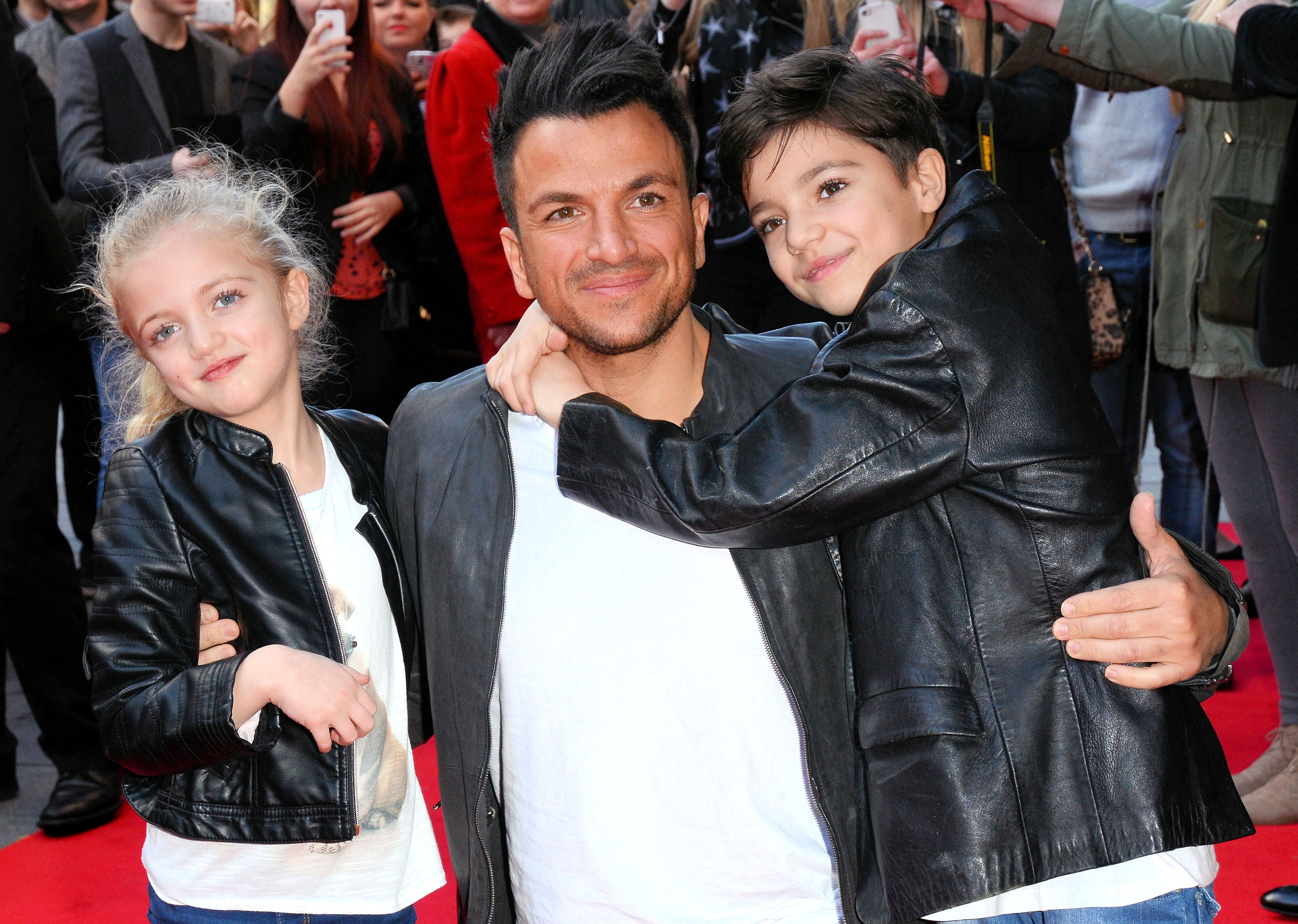 Peter Andre,daughter Princess Tiaamii Andre and son Junior Sawa Andre