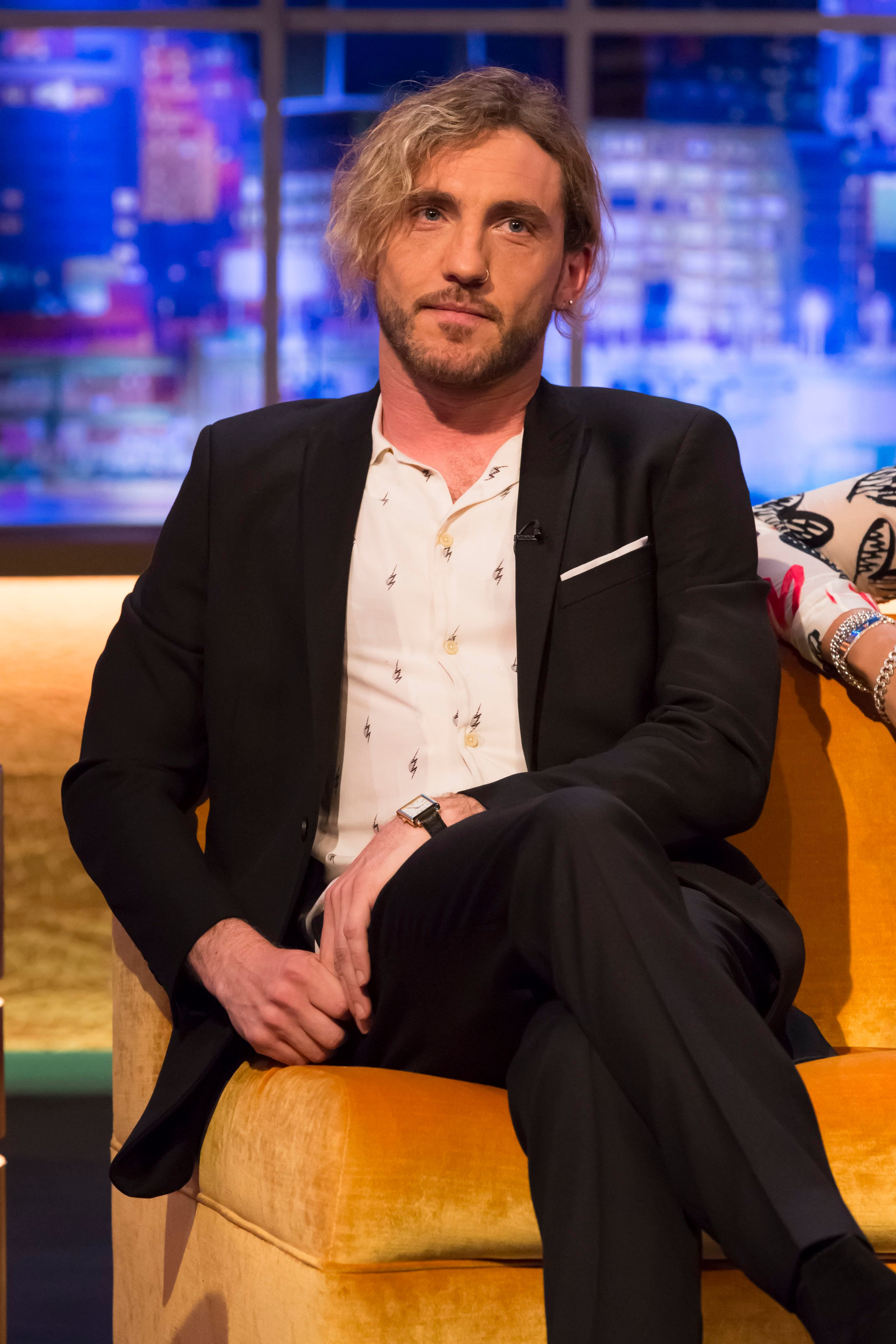 Mandatory Credit: Brian J Ritchie/Hotsauce Editorial Use Only Mandatory Credit: Photo by Brian J Ritchie/Hotsauce/REX/Shutterstock (10125518ay) Seann Walsh 'The Jonathan Ross Show' TV show, series 14, Episode 1, London, UK - 02 Mar 2019 Stand up comedian, Seann Walsh, joined the show in his first interview since leaving Strictly Come Dancing last series and addressed for the first time, the much talked about scandal involving kissing his dance partner, Katya Jones, whilst in a relationship with girlfriend, Rebecca Humphries.