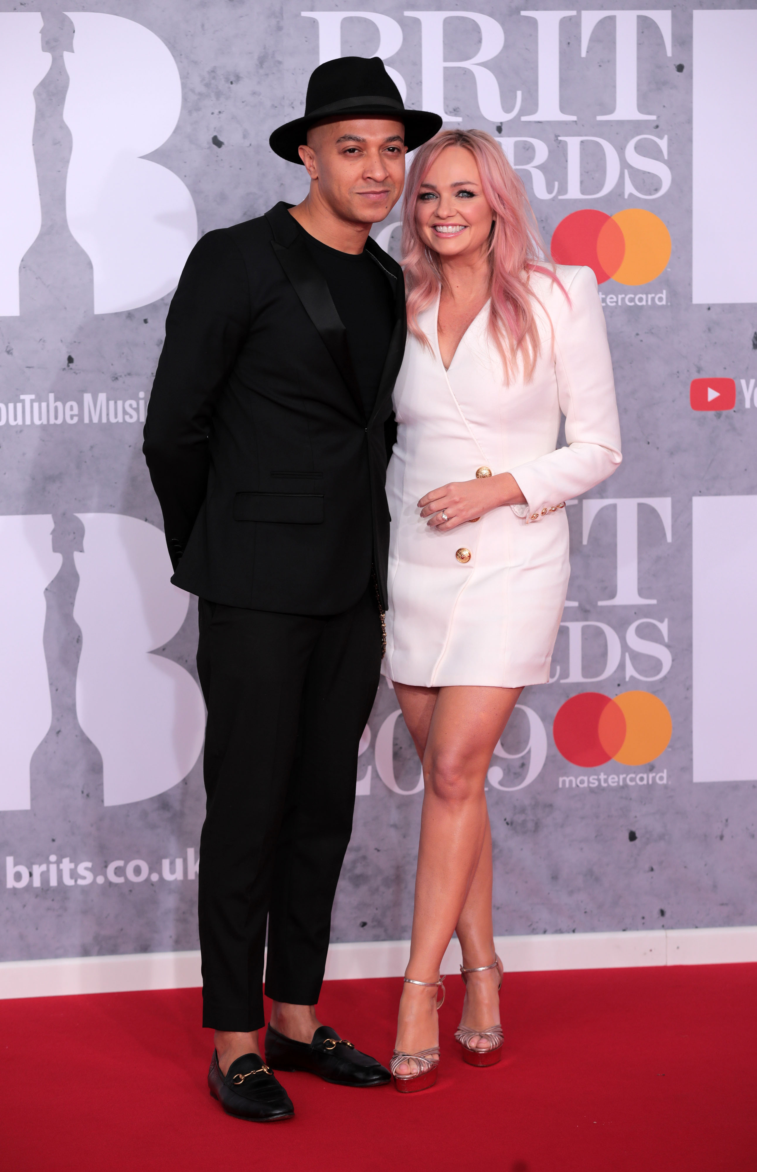 39th Brit Awards, Arrivals, The O2 Arena, London, UK Pictured: Jade Jones,Emma Bunton,Luke Evans Ref: SPL5066121 200219 NON-EXCLUSIVE Picture by: SplashNews.com Splash News and Pictures Los Angeles: 310-821-2666 New York: 212-619-2666 London: 0207 644 7656 Milan: 02 4399 8577 photodesk@splashnews.com World Rights