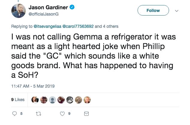 Jason Gardiner Twitter