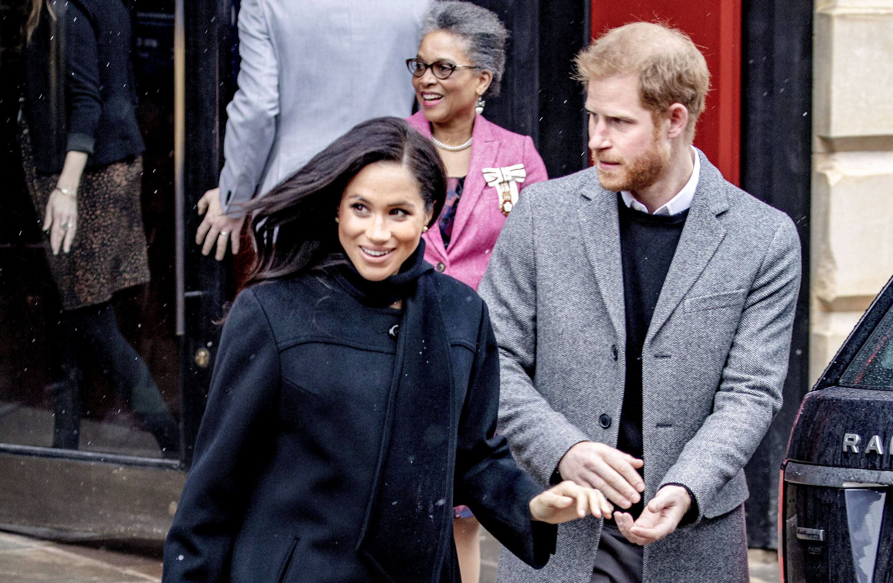 Meghan Markle makes a surprise appearance during Prince Harry's speech
