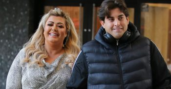 Gemma Collins and James Argent outside ITV Studios