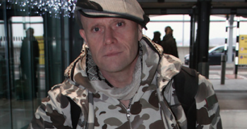 Keith Flint, singer from The Prodigy, wears all camo at Heathrow Airport in London, England on his way to Berlin. Pictured: Keith Flint Ref: SPL5044820 271118 NON-EXCLUSIVE Picture by: SplashNews.com Splash News and Pictures Los Angeles: 310-821-2666 New York: 212-619-2666 London: 0207 644 7656 Milan: 02 4399 8577 photodesk@splashnews.com World Rights