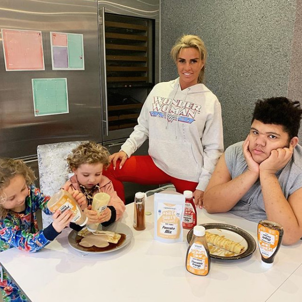 Katie Price with kids Jett, Bunny and Harvey
