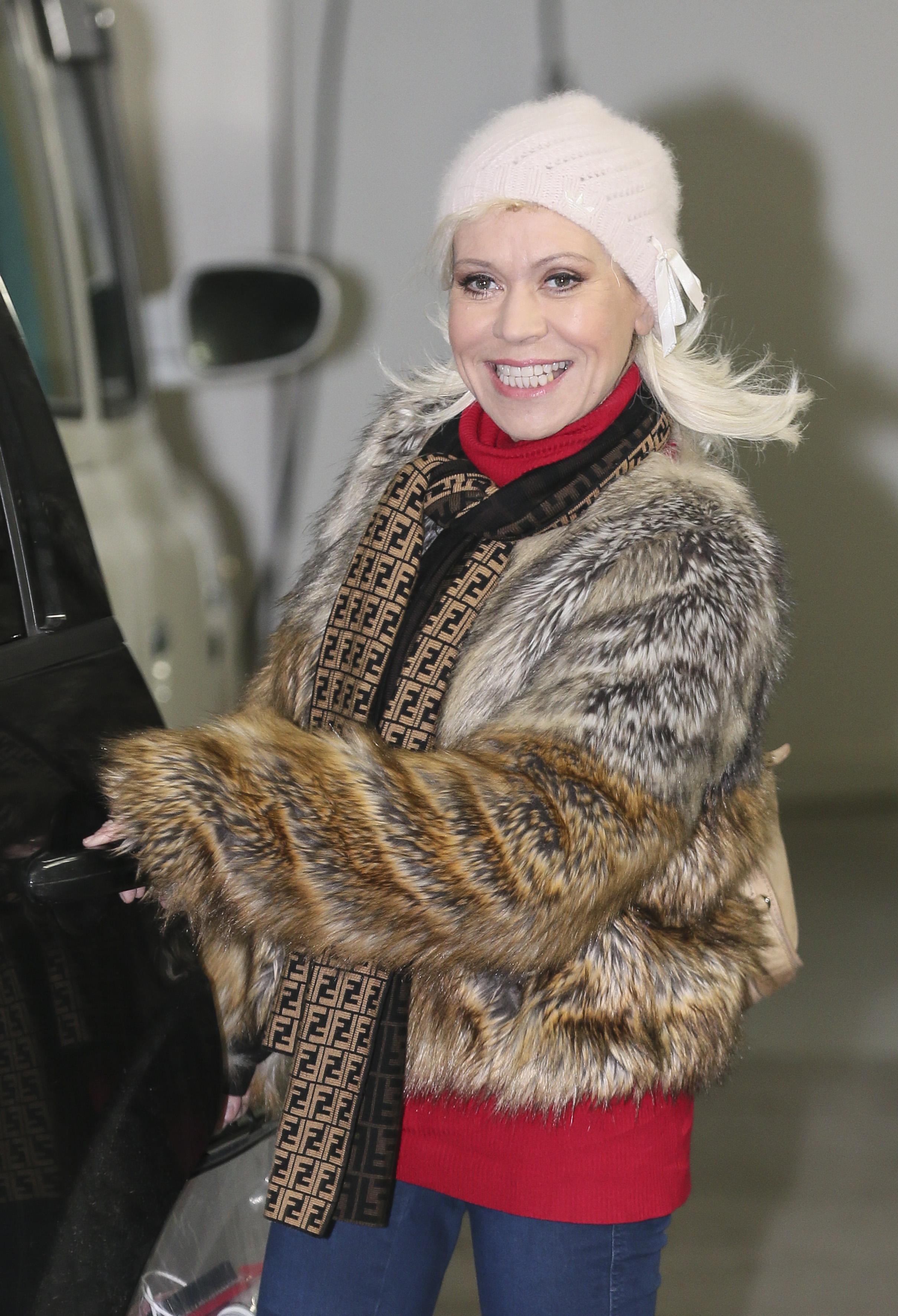 Tina Malone leaving the ITV studios, London.