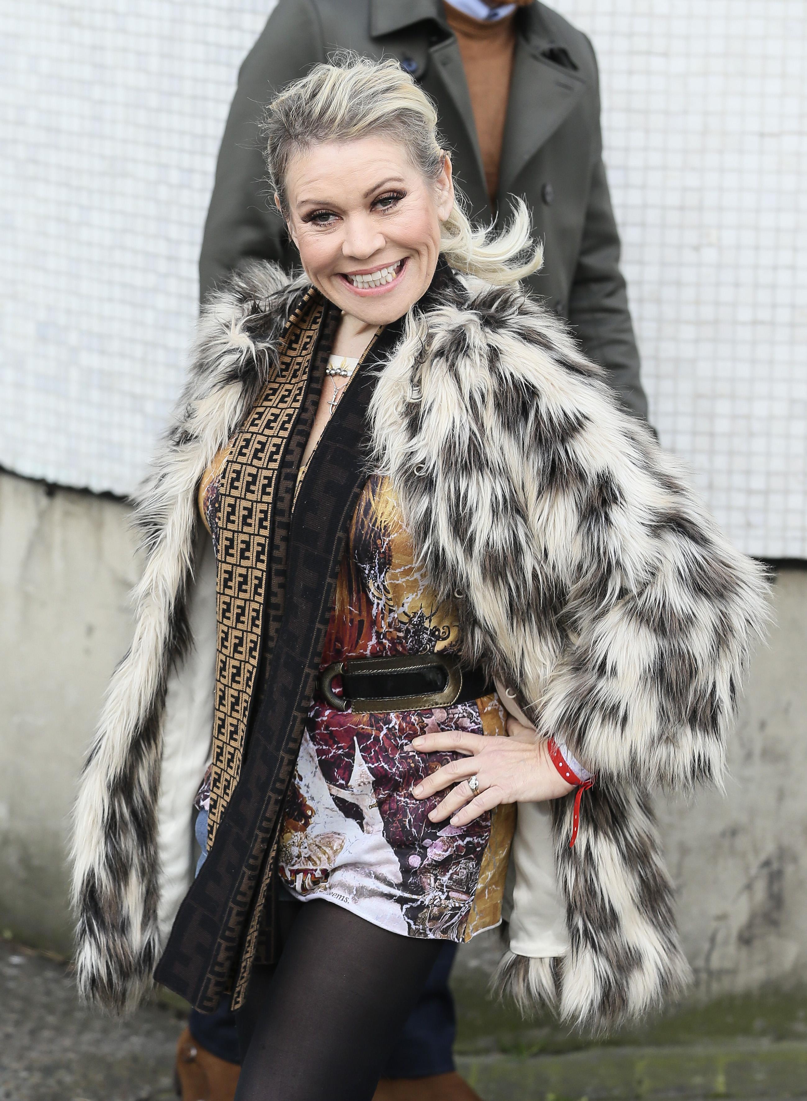 Tina Malone leaving the ITV studios, London