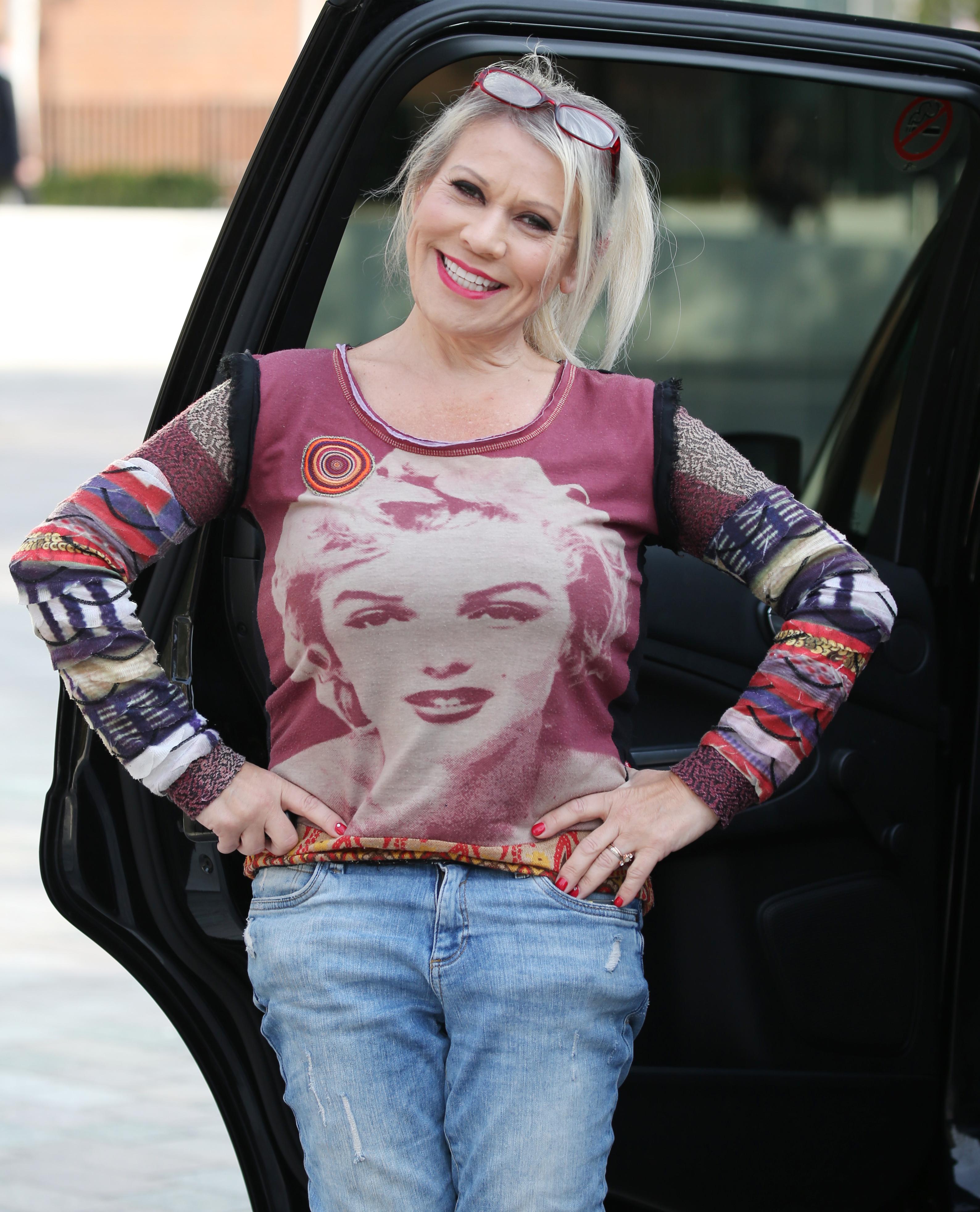 Tina Malone outside ITV Studios