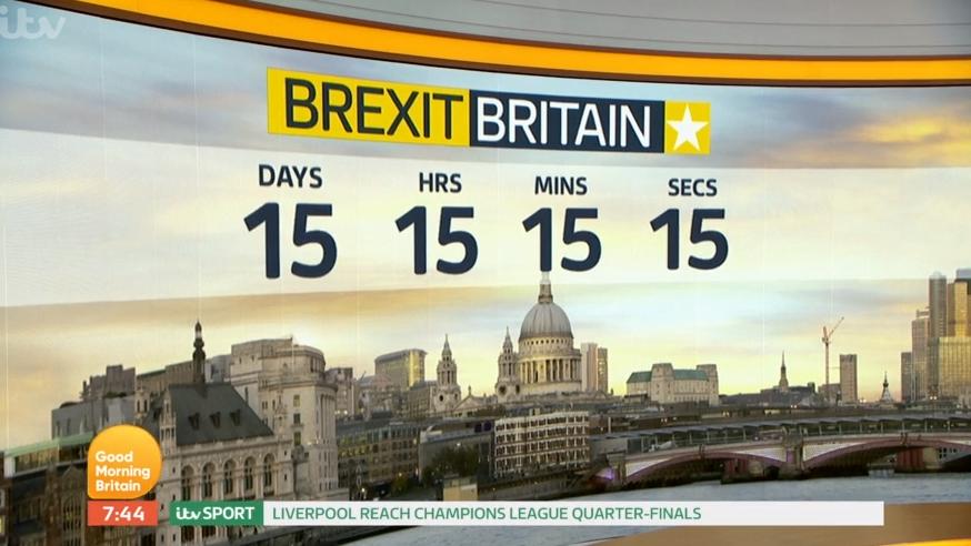 GMB's Brexit countdown clock