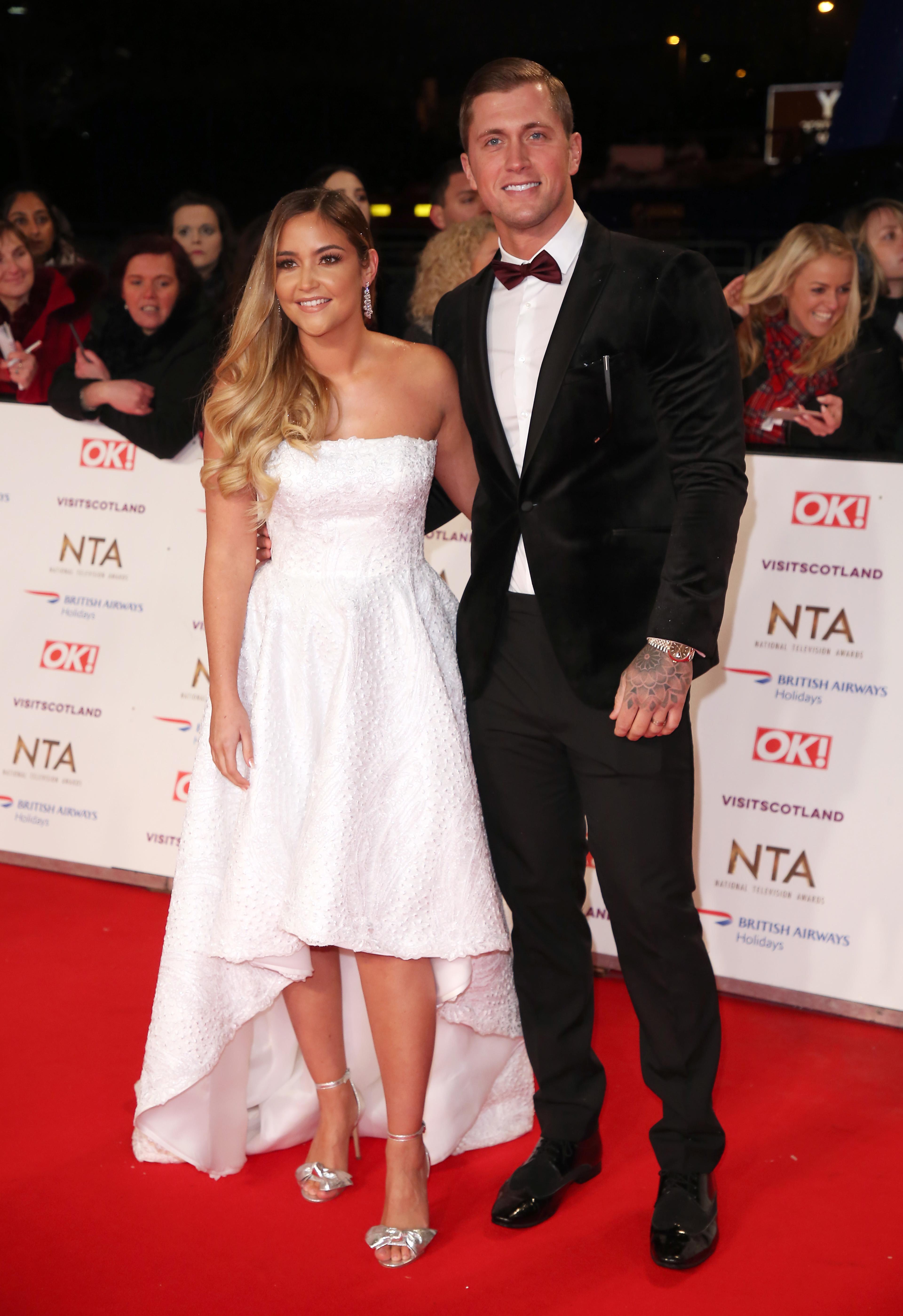 Jacqueline Jossa and Dan Osborne at The National Television Awards 2019