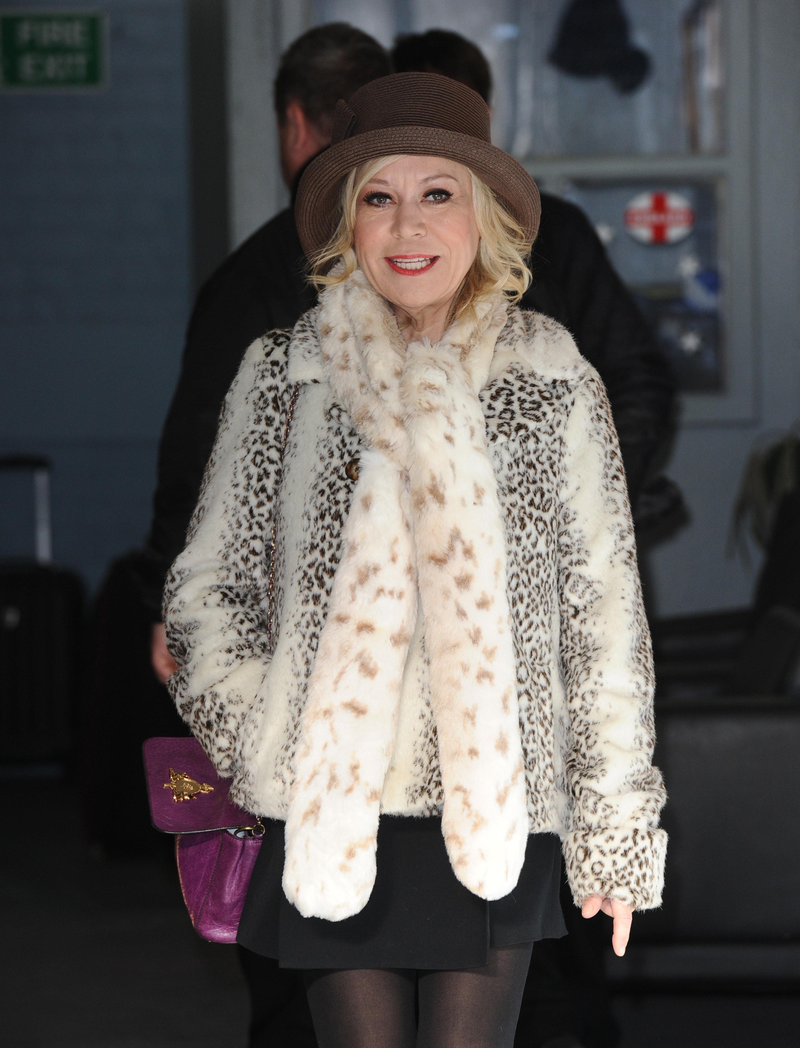 Tina Malone Seen Leaving The ITV Studios In London