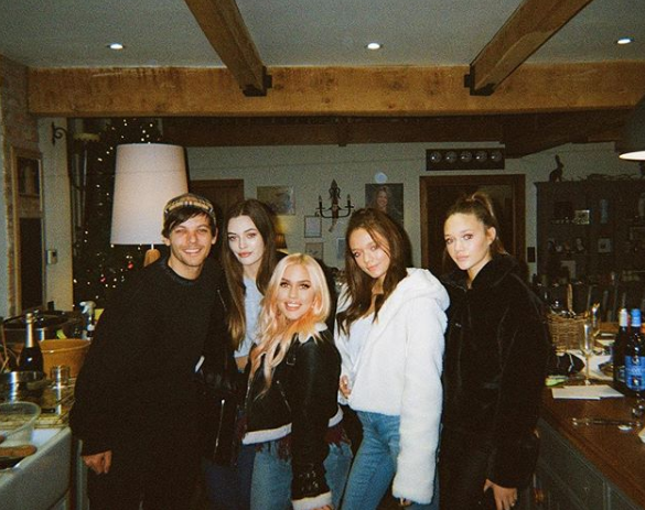 Louis Tomlinson and sister
