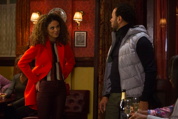EastEnders SPOILER: First look at Chantelle Atkins arrival as she clashes with her estranged dad Mitch