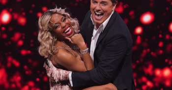 This image is strictly embargoed until 22.30 Thursday 14th March 2019 From ITV Studios All Star Musicals on ITV Pictured: London Hughes and John Barrowman. This photograph is (C) ITV Plc and can only be reproduced for editorial purposes directly in connection with the programme or event mentioned above, or ITV plc. Once made available by ITV plc Picture Desk, this photograph can be reproduced once only up until the transmission [TX] date and no reproduction fee will be charged. Any subsequent usage may incur a fee. This photograph must not be manipulated [excluding basic cropping] in a manner which alters the visual appearance of the person photographed deemed detrimental or inappropriate by ITV plc Picture Desk. This photograph must not be syndicated to any other company, publication or website, or permanently archived, without the express written permission of ITV Picture Desk. Full Terms and conditions are available on the website www.itv.com/presscentre/itvpictures/terms For further information please contact: james.hilder@itv.com / 0207 157 3052