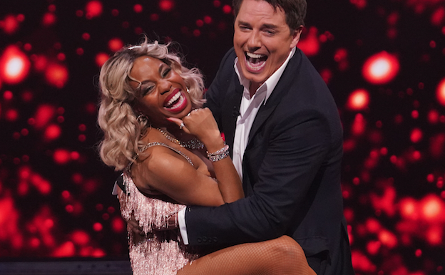 All Star Musicals comedian London Hughes sends host flying as she admits judge crush