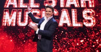 This image is strictly embargoed until 22.30 Wednesday 13th March 2019 From ITV Studios All Star Musicals on ITV Pictured: John Barrowman. This photograph is (C) ITV Plc and can only be reproduced for editorial purposes directly in connection with the programme or event mentioned above, or ITV plc. Once made available by ITV plc Picture Desk, this photograph can be reproduced once only up until the transmission [TX] date and no reproduction fee will be charged. Any subsequent usage may incur a fee. This photograph must not be manipulated [excluding basic cropping] in a manner which alters the visual appearance of the person photographed deemed detrimental or inappropriate by ITV plc Picture Desk. This photograph must not be syndicated to any other company, publication or website, or permanently archived, without the express written permission of ITV Picture Desk. Full Terms and conditions are available on the website www.itv.com/presscentr