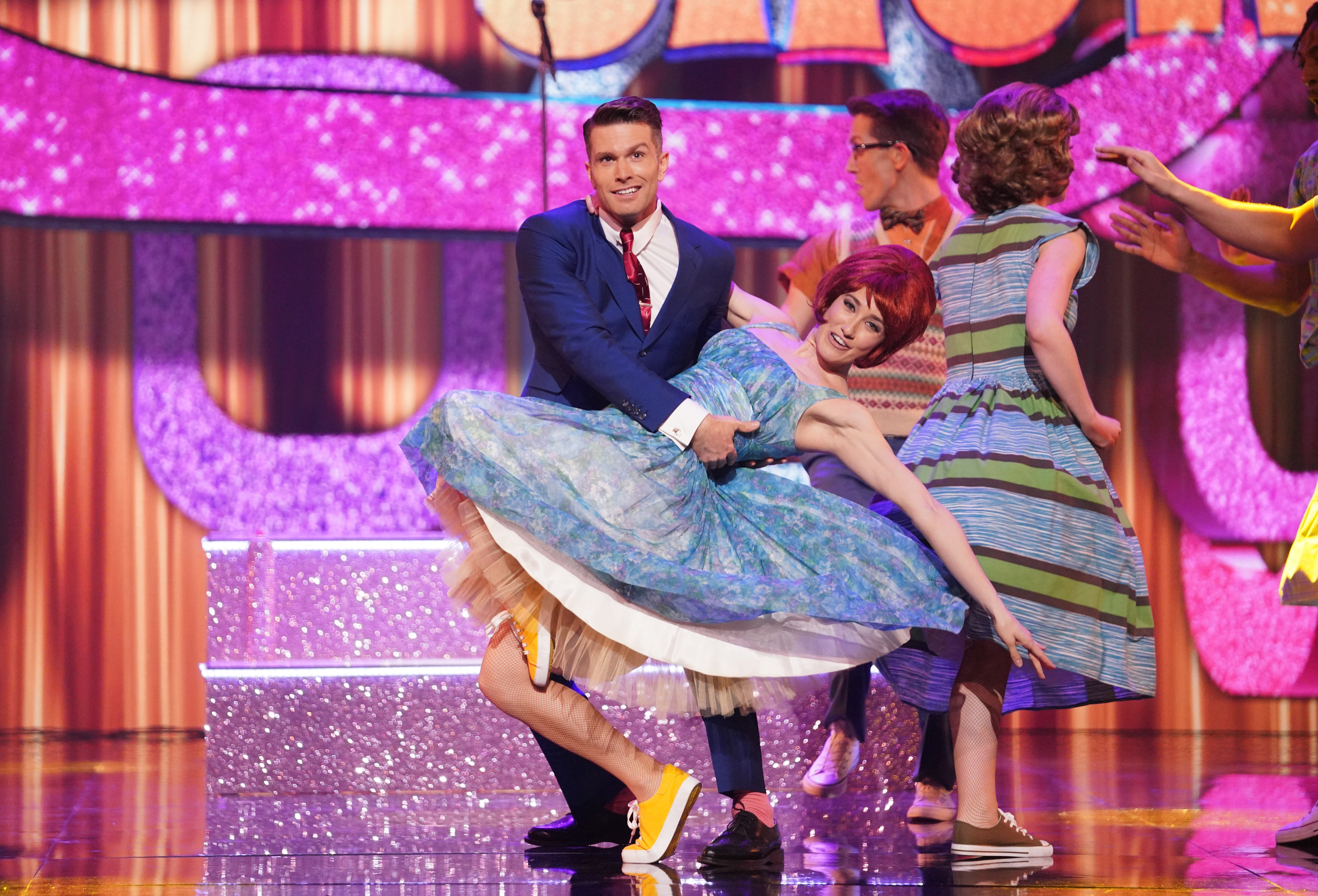 This image is strictly embargoed until 22.30 Thursday 14th March 2019 From ITV Studios All Star Musicals on ITV Pictured: Joel Dommett performs. This photograph is (C) ITV Plc and can only be reproduced for editorial purposes directly in connection with the programme or event mentioned above, or ITV plc. Once made available by ITV plc Picture Desk, this photograph can be reproduced once only up until the transmission [TX] date and no reproduction fee will be charged. Any subsequent usage may incur a fee. This photograph must not be manipulated [excluding basic cropping] in a manner which alters the visual appearance of the person photographed deemed detrimental or inappropriate by ITV plc Picture Desk. This photograph must not be syndicated to any other company, publication or website, or permanently archived, without the express written permission of ITV Picture Desk. Full Terms and conditions are available on the website www.itv.com/presscentre/itvpictures/terms For further information please contact: james.hilder@itv.com / 0207 157 3052