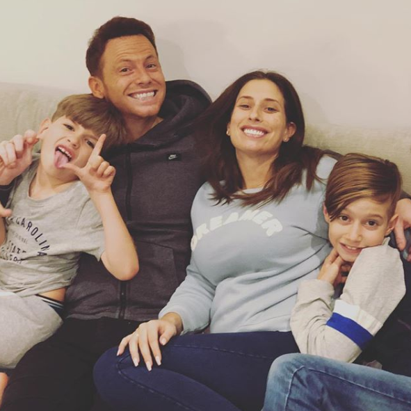 Joe Swash and Stacey Solomon with her kids