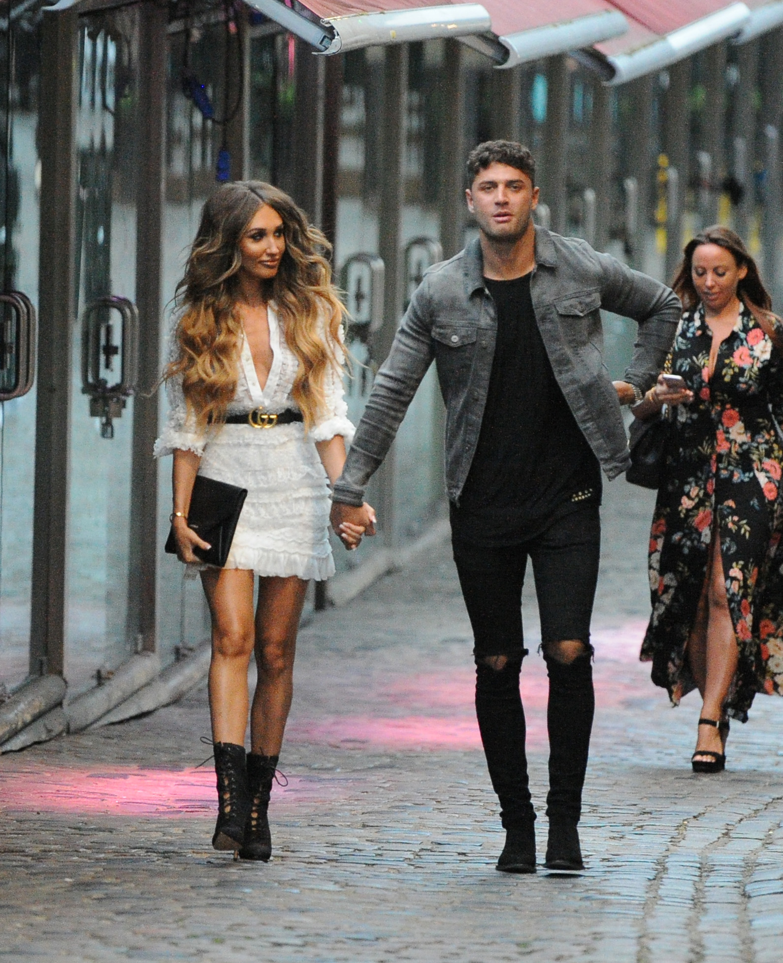 Megan Mckenna and Mike Thalassitis seen arriving at Fest in Camden for the 2018 Love Island Official Screening.