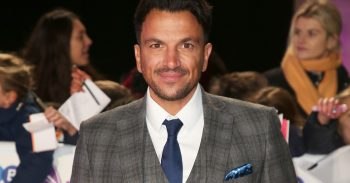 Peter Andre smiling on the red carpet