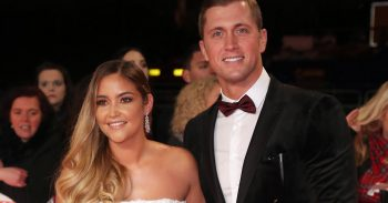 Jacqueline Jossa and DAn Osborne at the NTAS=s