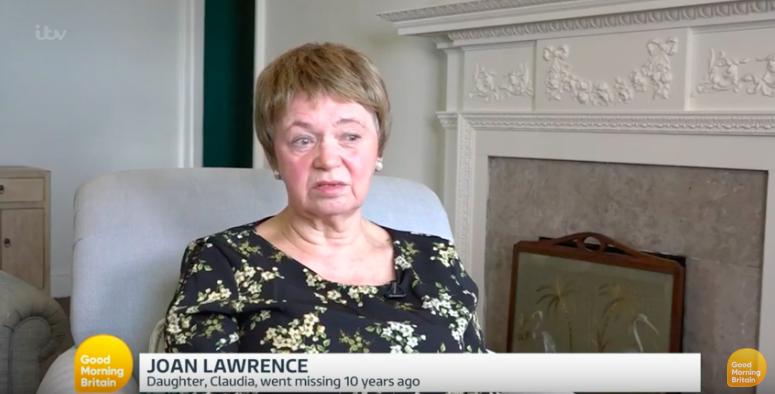 Joan Lawrence missing daughter Claudia GMB ITV