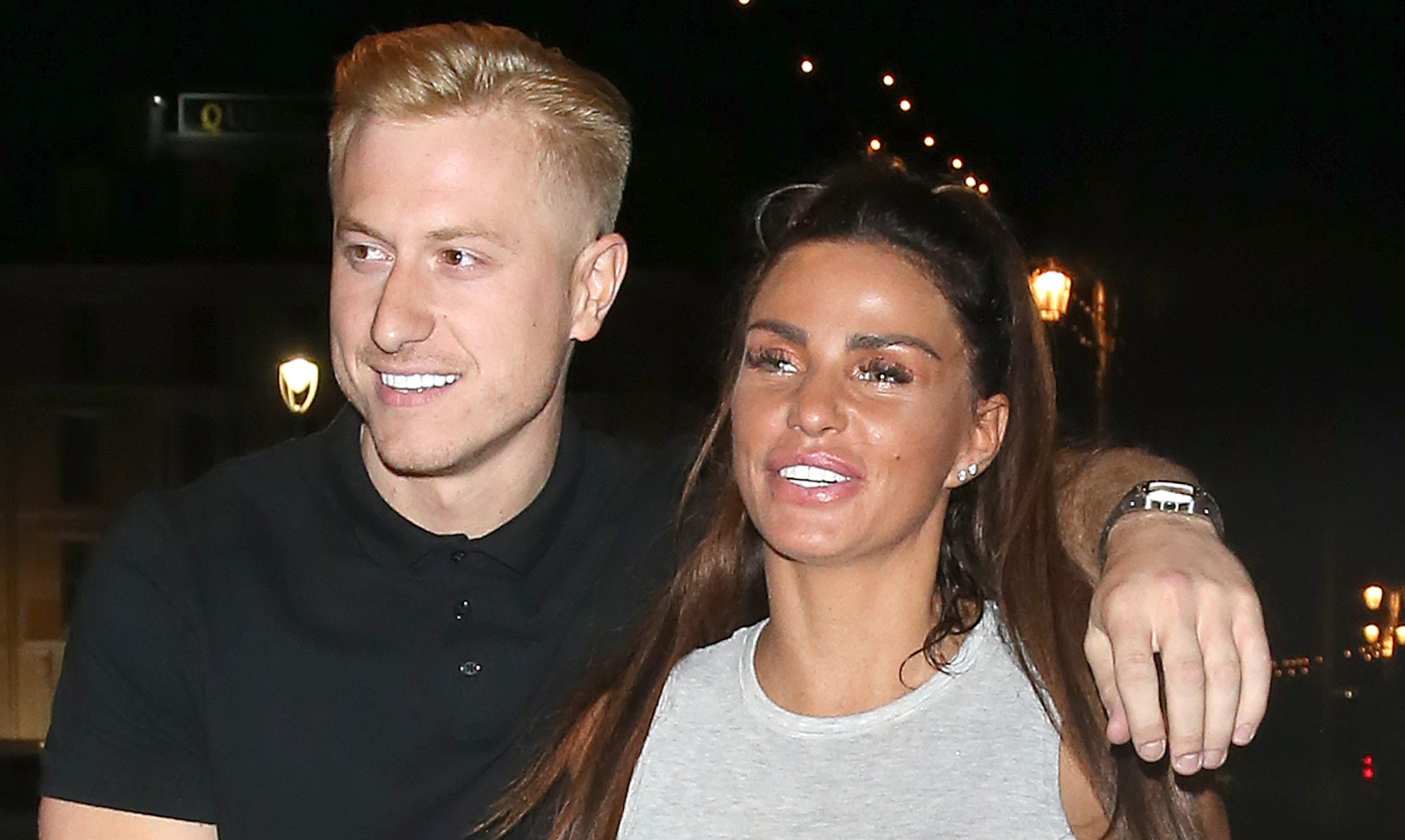 Happy Couple Katie Price And Kris Boyson Leave Shooshh Club In London