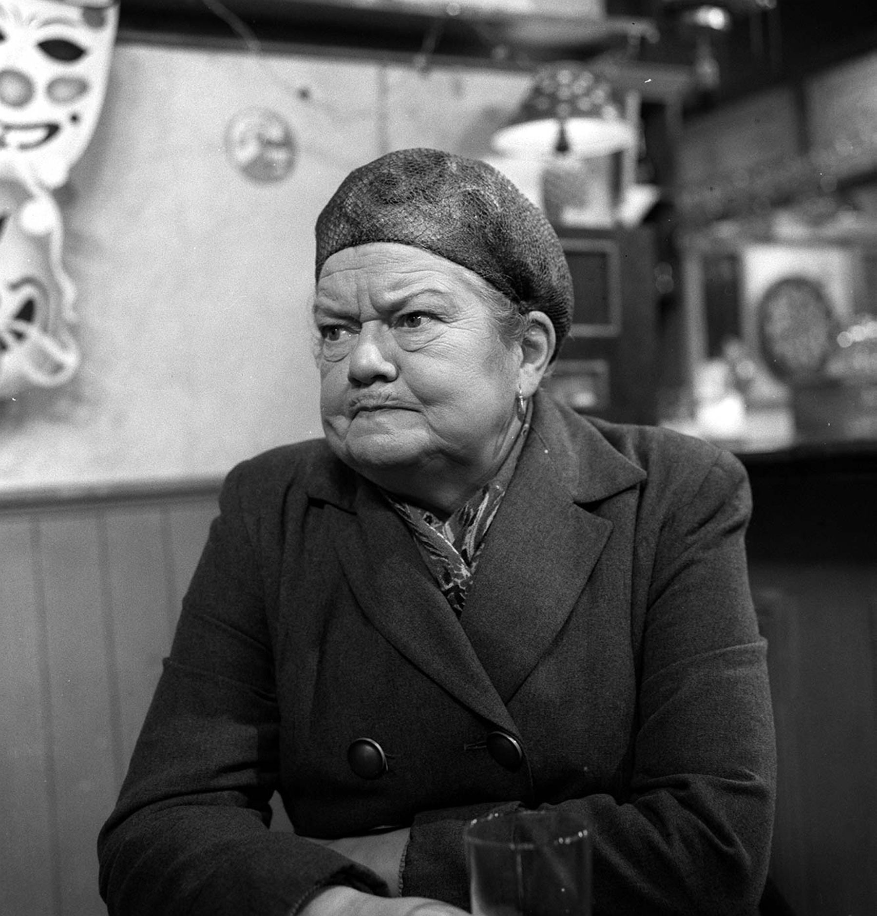 Editorial use only. Exclusive - Premium Rates Apply. Call your Account Manager for pricing. Mandatory Credit: Photo by ITV/REX/Shutterstock (803054jw) 'Coronation Street' TV - 1960's - Ena Sharples [Violet Carson] ITV ARCHIVE