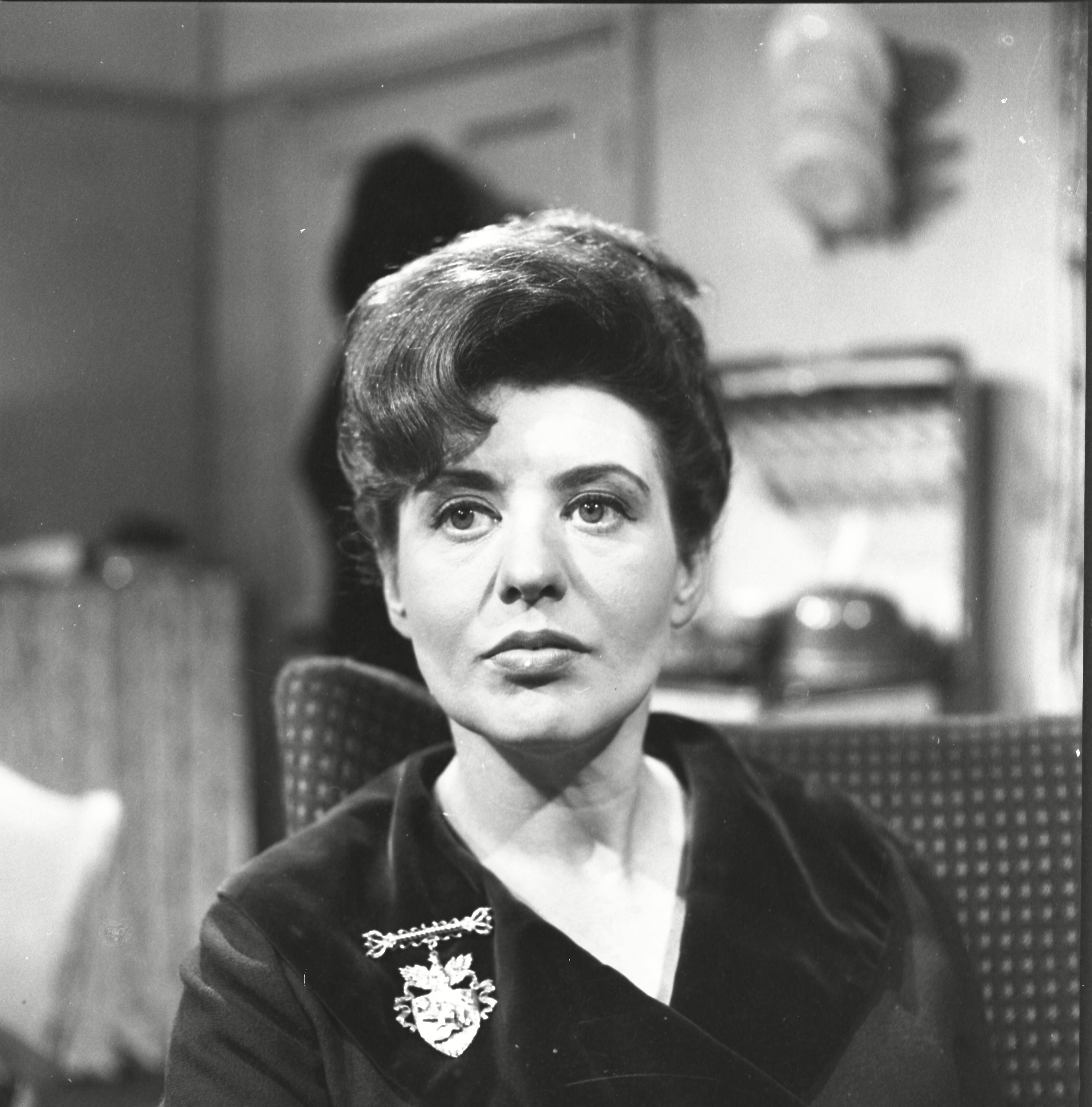 Editorial Use Only. No merchandising Mandatory Credit: Photo by ITV/REX/Shutterstock (9901130r) Pat Phoenix (as Elsie Tanner) 'Coronation Street' TV Show - 1964 Coronation Street is a long running Television soap opera set in the fictional North of England town of Weatherfield. Created by Tony Warren. First broadcast on December 9th, 1960. Produced by ITV Granada.