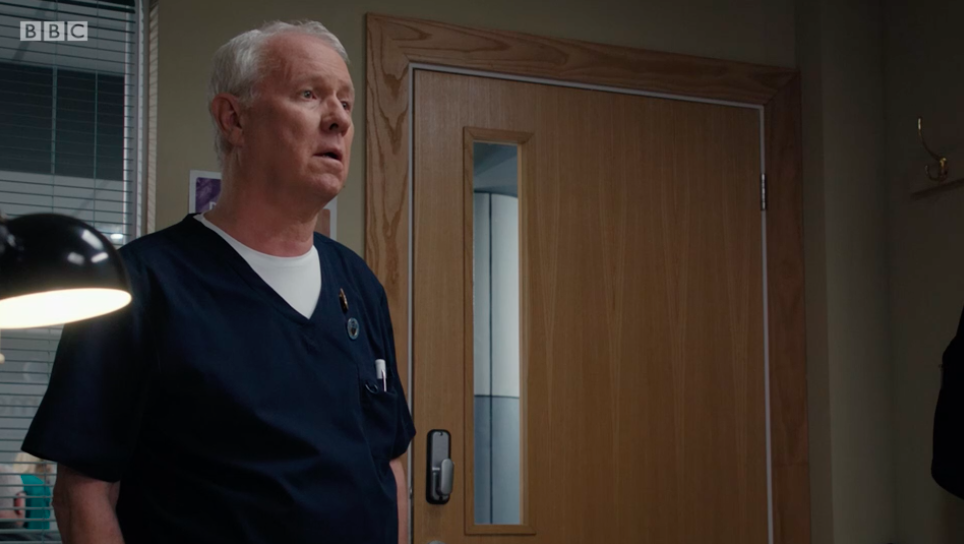 Casualty viewers in tears as Duffy delivers devastating news to Charlie