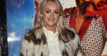 Katie McGlynn at the Annie Press Night at The Opera house Theatre Manchester