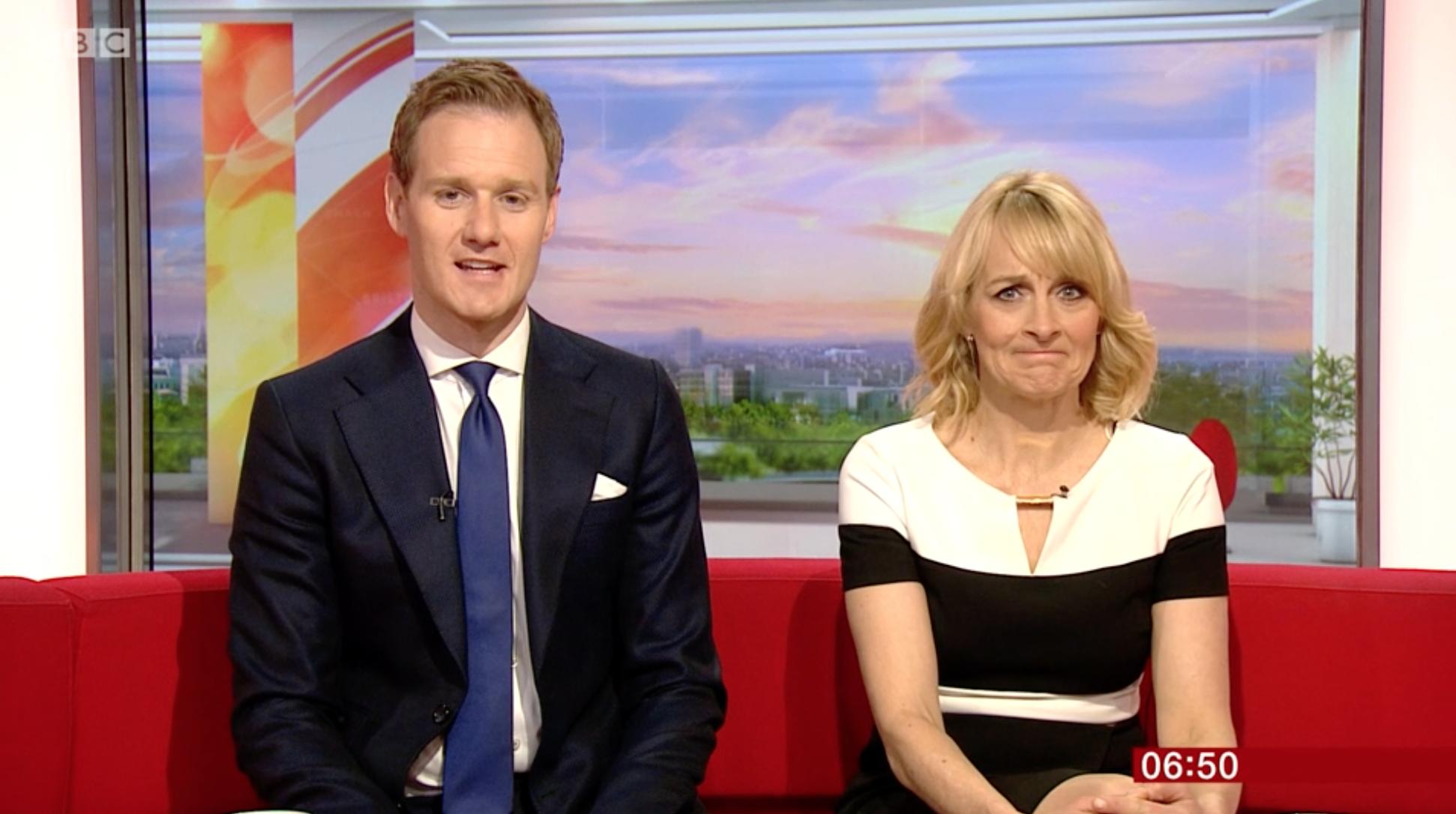 Dan Walker and Louise Minchin BBC Breakfast