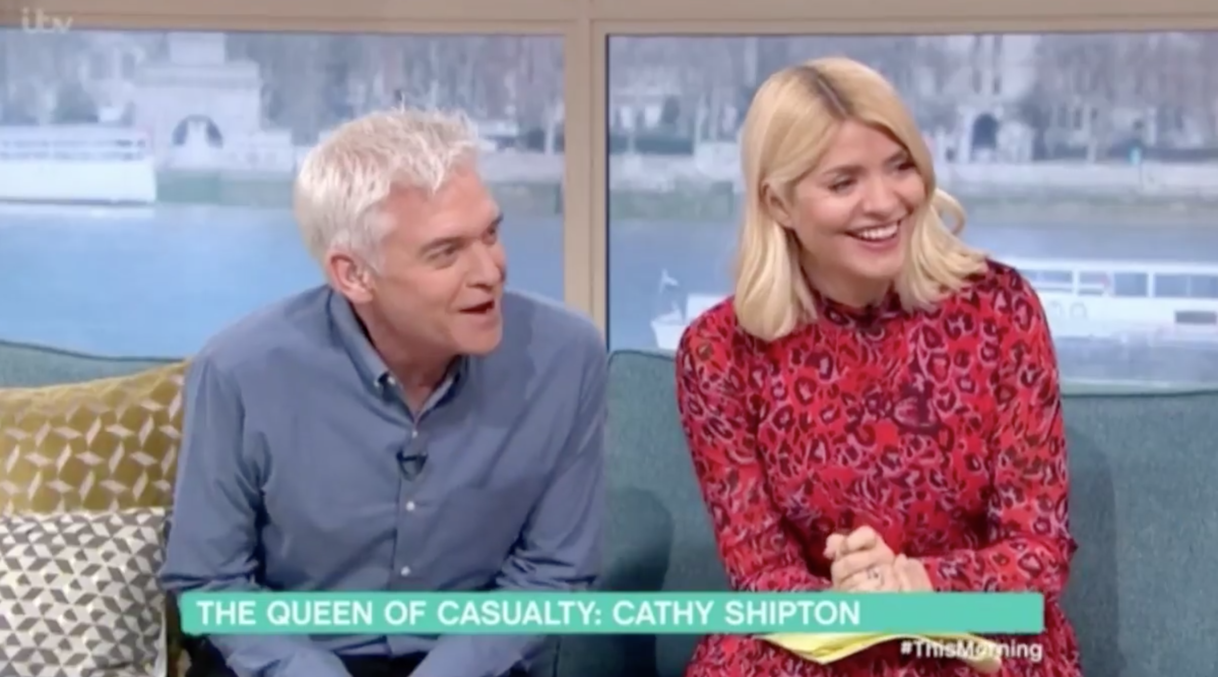 Holly Willoughby and Phillip Schofield interview Cathy Shipton