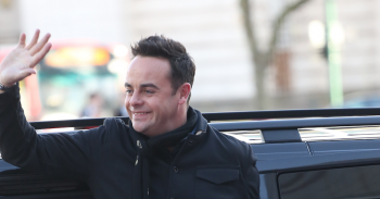 Ant McPartlin waves to crowds at BGT