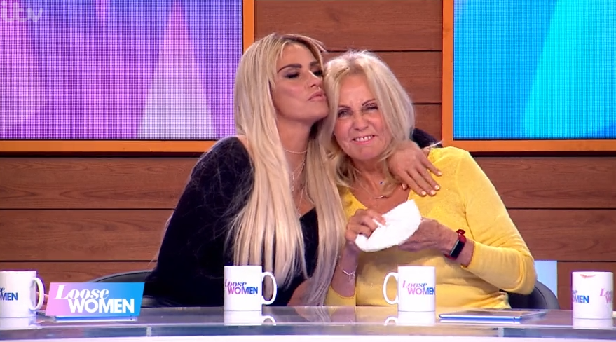 Katie Price consoles terminally-ill mum as she sobs on Loose Women
