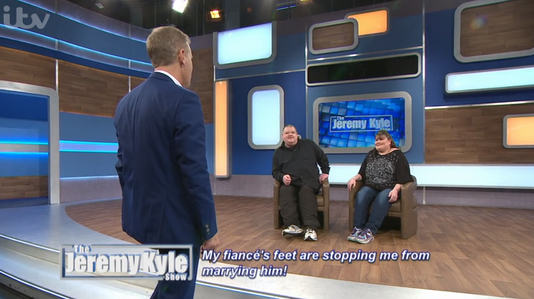 Jeremy Kyle fans 'in tears' as guest claims he can't get married or a job because of his size 19 feet